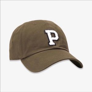 NEW Pink Baseball Hat In Olive Green